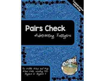 Pairs Check - Subtracting Integers