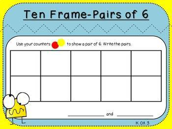 Pairs of 6 (Kindergarten-K.OA.3)