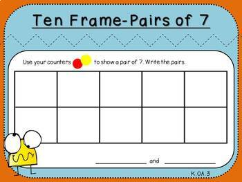 Pairs of 7 (Kindergarten-K.OA.3)