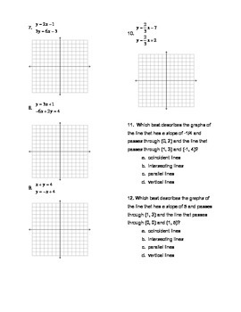 Pairs of Linear Equations