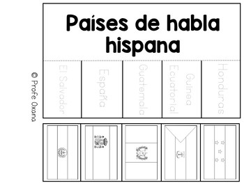 Países de habla hispana - Spanish speaking countries INTERACTIVE NOTEBOOK