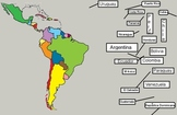 Latin American Countries and Capitals  Interactive Promethean Board Activity