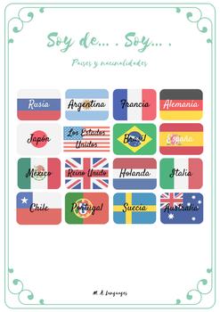 Nacionalidades Espanol Worksheets Teaching Resources Tpt