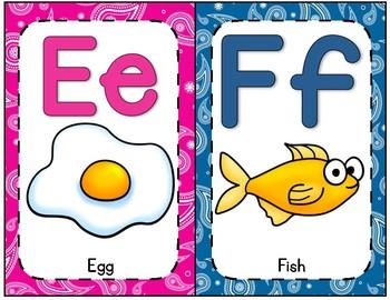 Paisley Alphabet Posters