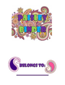 Paisley Binder Cover