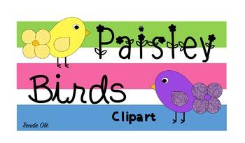 Paisley Birds Clipart
