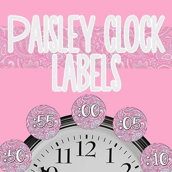 Paisley Clock Labels