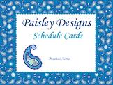 Paisley Designs Schedule Cards (Editable)