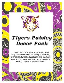 Paisley LSU Tigers Classroom Decor Pack
