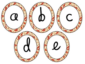 Paisley Letter Cards