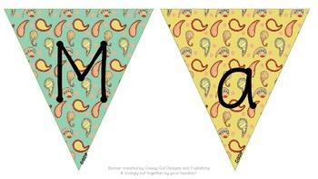 "Paisley ""Mathematics"" Banner"