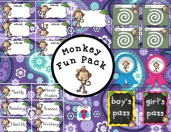 Paisley Monkey Fun Pack