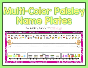 Paisley Name Plates