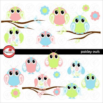 Paisley Owls by Poppydreamz