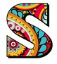 """Paisley Patterned Alphabet - 43 - 300 DPI - PDF & PNGs - 3.75"""" High PPT Included"""