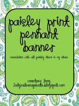 Paisley Pennant Banner