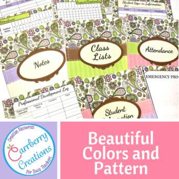 Teacher Binder EDITABLE : Paisley Designs