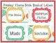 Paisley Theme Customizable Book Basket Labels