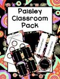 Paisley Themed Classroom Pack (EDITABLE!! )