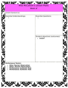 Paisley Themed Lesson Plans