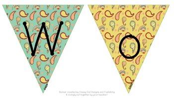"Paisley ""WORD WALL"" Banner"