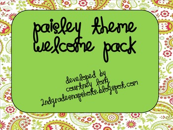 Paisley Welcome Pack