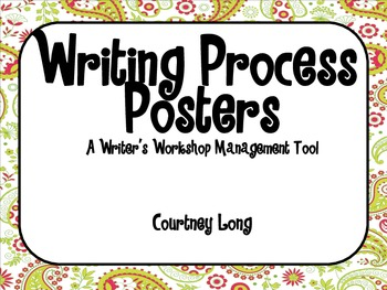 Paisley Writing Process Poster and Management System with Picture Clues