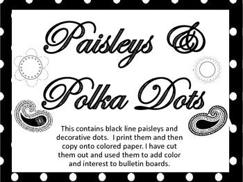 Paisley and Polka Dot classroom accents