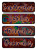Paisley on Wooden Planks Themed Pocket Chart Subject Schedule Cards & Calendar