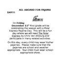Pajama Day Letter for parents (Polar Express)- translated