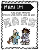 Pajama Day Note