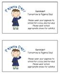 Pajama Day Reminder