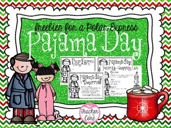 Pajama Day and Cocoa Freebie- Perfect if you watch the Polar Express