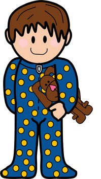 Pajama Kids Clip Art