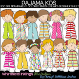 Pajama Kids Clipart Collection