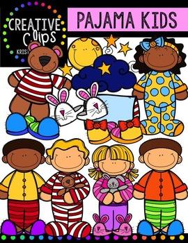 Pajama Kids {Creative Clips Digital Clipart}