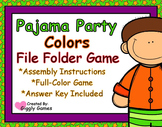 Pajama Party Colors File Folder Game
