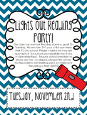 Pajama Party & Lights Out Reading Party Note