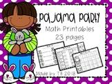 Pajama Party Math Printables
