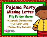 Pajama Party Missing Letters File Folder Game