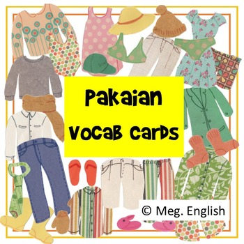 Pakaian - Indonesian Vocabulary Cards