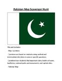 Pakistan Map Scavenger Hunt