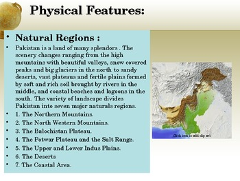 Geography:Pakistan's Physical Features( History, Culture and Pakistan Today)PPT