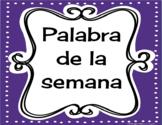 Palabra de la semana: Spanish word of the week