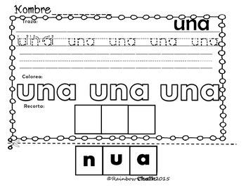 """Palabra de uso frecuente: """"una"""""""