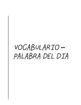 Palabra del Dia (Word of the Day) - Claves de Contexto, Prefijos y Sufijos
