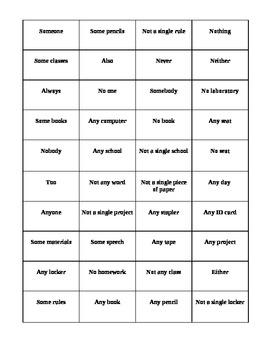 Palabras Afirmativas y Negativas Puzzle
