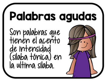 Palabras Agudas - Powerpoint, Activities, and Quiz (SPANISH ONLY)