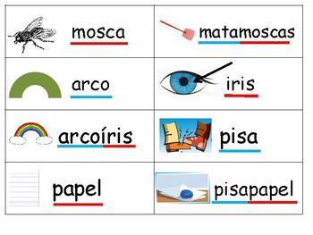 Palabras Compuestas Brace Map Game