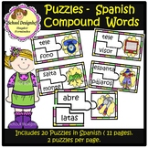 Palabras Compuestas - Puzzles / Puzzles Compound Words Spa